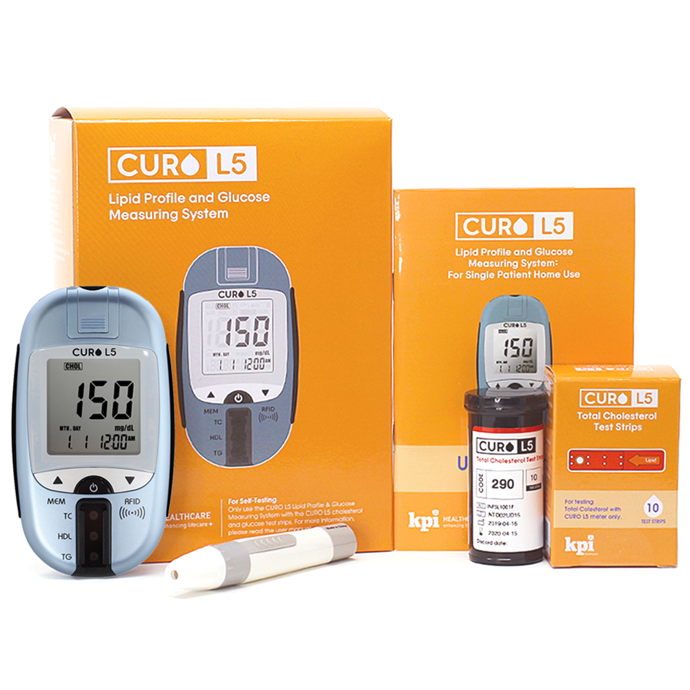 Curo-L5-Blood-Cholesterol-Test-Kit-Self-Home-Testing-Monitor-Pro-0